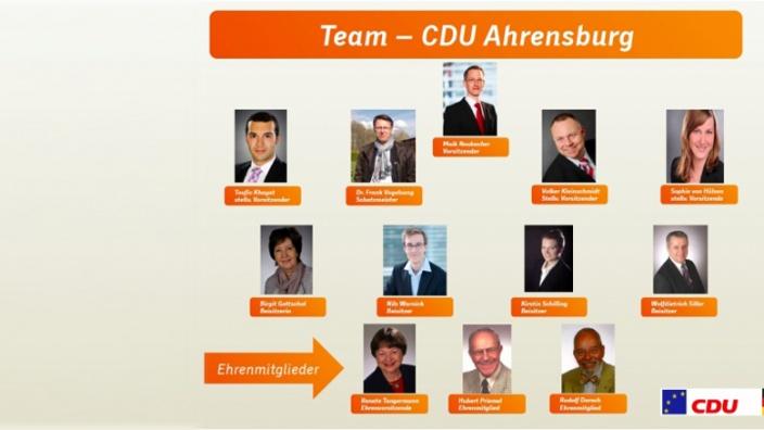 Neugewählter Vorstand der Ahrensburger CDU